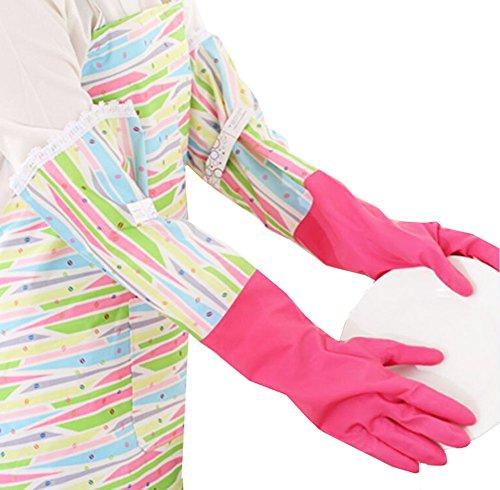 Des gants imperméables Velvet Worm Gants de nettoyage de la vaisselle -06