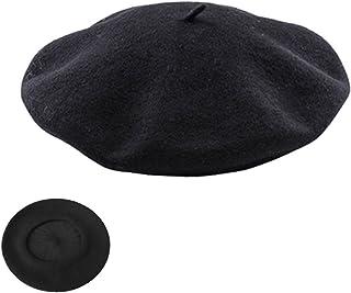 b392d3421 Comficent Sombrero de Boina Francesa,Accesorio de Disfraces Fieltro Francés  Sombrero Vasca Beret Cap Beanie