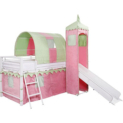 Castle Bed With Slide Amazoncom