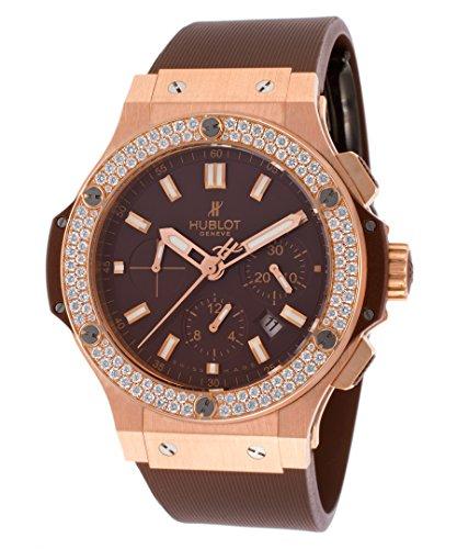 Hublot Men's Big Bang Automatic Chronograph Diamond Brown Rubber