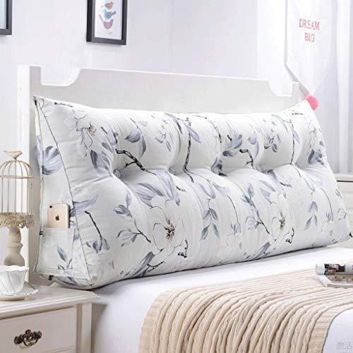 Tokyia Cojín lumbar para sofá de doble espalda, suave para cama, almohada lumbar (color: O, tamaño: 135 cm)