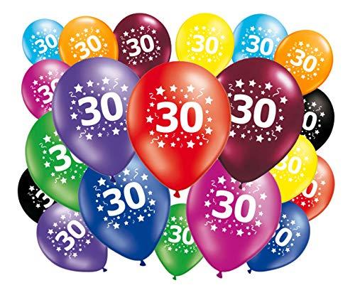 FABSUD Ballons Anniversaire 30 Ans - Lot de 20 Ballons 30