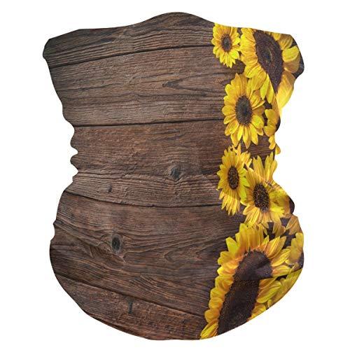 TropicalLife SunsetTrip Summer Sunflower Beach Pañuelo multifuncional de madera para la cara polvo UV cuello polaina diadema diadema para deportes senderismo correr ciclones