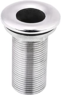 """Hose Barb Fittin, 316 Stainless Steel Boat Marine Barbed Hose Thru Drain Threaded Fitting(1"""")"""