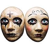 Ubauta Grey Cross & God Horror Killer Purge Máscara de Pareja para Hombres, película The Purge Anarchy, Fiesta de Disfraces de Disfraces de Halloween, Solo Apto para niños