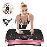 NIMTO Vibration Plate Exercise Machine Whole Body Workout Vibration Fitness Platform for Home Fitness & Weight Loss + Remote + Loop Resistance Bands, 999 Levels from NIMTO