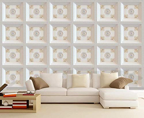 Wallpaper 3D Golden Pattern Frame Retro Modern Custom Wall Mural Photo Wallpaper Murals