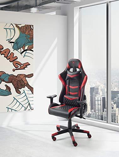 ConfortChoice Gaming Sthul Xtreme PRO | Gaming Stuhl Ergonomischer | Computerstuhl | Schreibtischstuhl Bürostuhl | Esports Stuhl (Rot)