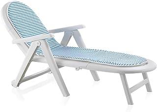 Sp Garden 42608 -  Tumbona plegable- Blanco- 56 x 189 x 69 cm