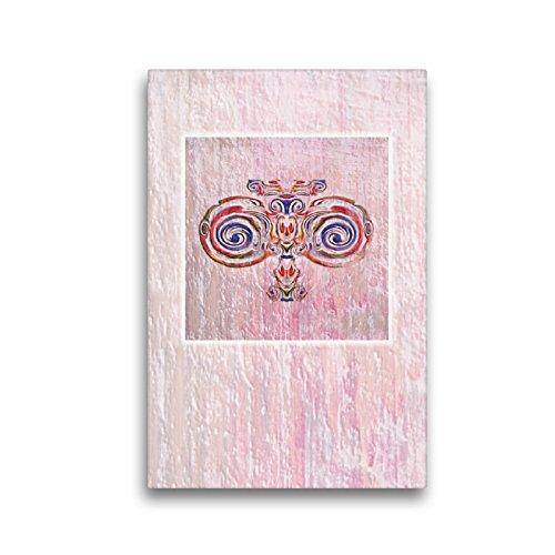 """Premium Textil-Leinwand 30 x 45 cm Hoch-Format Ornament\"""" Jugendstil\""""   Wandbild, HD-Bild auf Keilrahmen, Fertigbild auf hochwertigem Vlies, Leinwanddruck von Claudia Gründler"""