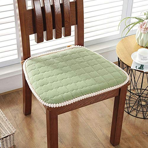 Rowe Set Of 4 Chair Cushions Four Season Futon Seat Cushion Non Slip Seat Pad Tatami Floor Cushion Chair Sofa Cushion Cotton Soft Chair Cushion (Color : Green, Size : 43x46cm(17x18inch))