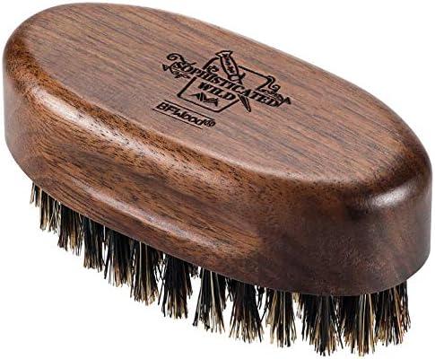 BFWood Small Travel Beard Brush Natural Boar Bristles with Black Walnut Wood product image