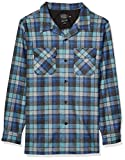 Pendleton Men's Long Sleeve Fitted Board Wool Shirt, Blue/Green Original Surf Plaid, LG