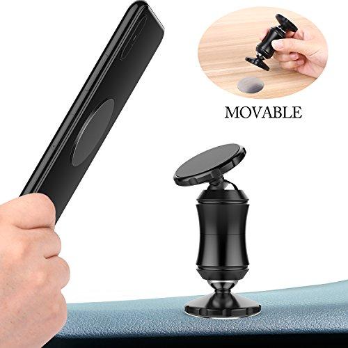 beheart Handyhalterung Auto Magnet Doppelkopf Magnetismus für Smartphones Tablets (Schwarz)
