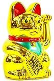 Winkekatze MANEKI NEKO 6″ / 16cm gold - 2
