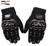Riderscart Probiker Synthetic Leather Motorcycle Gloves (Black, XL) (Pro-Biker-Glove-Blk)