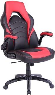 Vivol Silla Gaming Prime Rojo - Silla ergonómica sobre ruedas y reposabrazos plegables - Silla de gaming con mecanismo de inclinación - Silla de gaming disponible