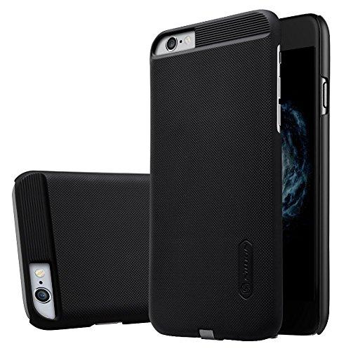 Nillkin iPhone 6/ 6S Hülle, Wireless Charging Case, Magic Series Qi Drahtloser Ladegerät Schutzhülle Back Cover [Kompatibel mit Magnetic Wireless Auto Ladegerät Halter] für iPhone 6/ 6S (Schwarz)