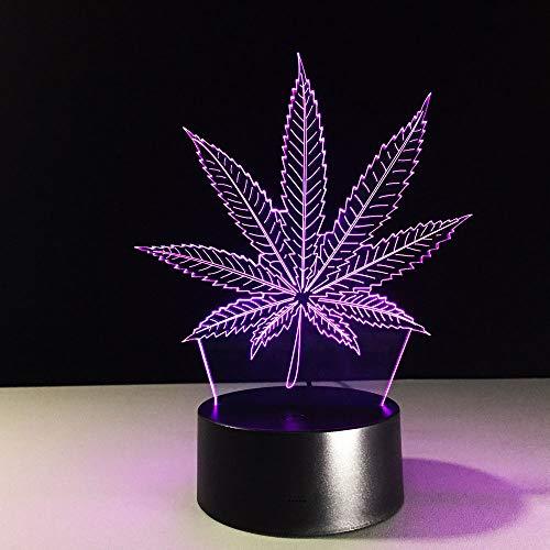 3d lampe colores Nachttisch Lampen Methacrylatplatte Nachtlichter LED-Farbe dieLichtändert