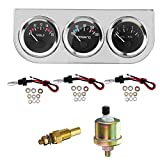 WZhen 2'' Bezel Voltmeter Termómetro De Agua Temp Oil Pressure Electrical Gauge