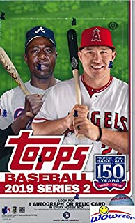 2019 Topps Series 2 MLB Baseball MASSIVE 24 Pack Factory Sealed HOBBY Box with 336 Cards & AUTO or RELIC Card! Look for RC & Autos of Vladimir Guerrero Jr, Pete Alonso, Fernando Tatis & More! WOWZZER