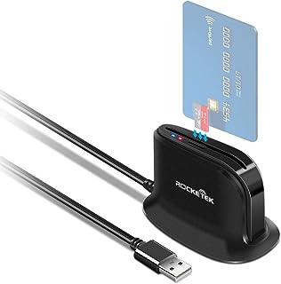 comprar comparacion Rocketek Lector de Tarjetas Inteligentes USB,DOD Military USB Adaptador de Lector de Tarjetas CAC de Acceso común | Tarjet...