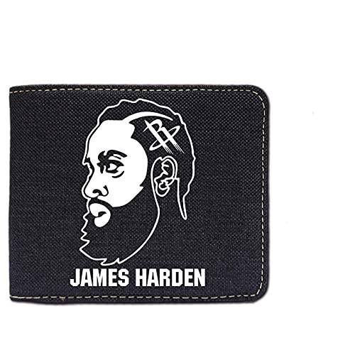 NBA Rockets Harden Cartera masculina de baloncesto para aficionados a la cartera periférica, paquete de tarjetas multifunción para jóvenes, regalo de cumpleaños