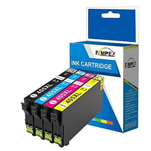 Fimpex Compatible Tinta Cartucho Reemplazo para Epson Workforce Pro WF-3800 WF-3820 DWF WF-3825 DWF WF-3830 DWTF WF-4800 WF-4820 DWF WF-4825 DWF WF-4830 DTWf WF-7800 WF-7830 DTWf (B/C/M/Y, 4-Paquete)