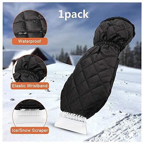 Wing ijskrabber handschoen, ijskrabber voor voorruit, voorruit, ijskrabber met waterdichte handschoen voor auto en auto