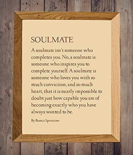 SOULMATE Love Wall Art Print 8 x 10 Romantic Wall Decor Ready to Frame Modern Poem Print by product image