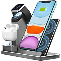 Ziku 3 in 1 Wireless Charging Stand Station Dock with 18W USB-C Charger
