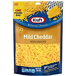 Kraft Natural Shredded Mild Cheddar Cheese (16 oz Bag)