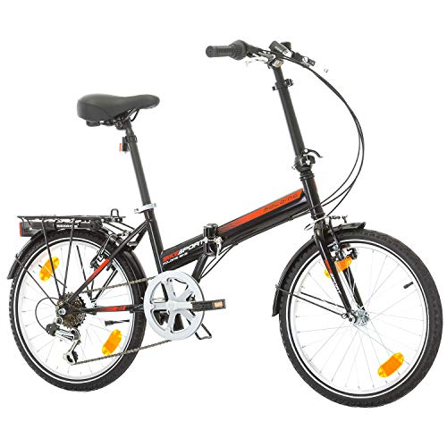 BIKE SPORT LIVE ACTIVE Klapprad Faltrad Fahrrad Bikesport Folding 20 Zoll Shimano 6 Gang (Schwarz)
