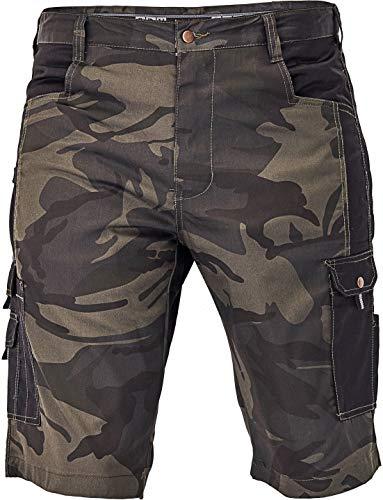 DINOZAVR Crambe Pantaloni Corti da Lavoro Uomo - Bermuda Cargo Pantaloncini Estivi con Tasche Multifunzione - Camo S