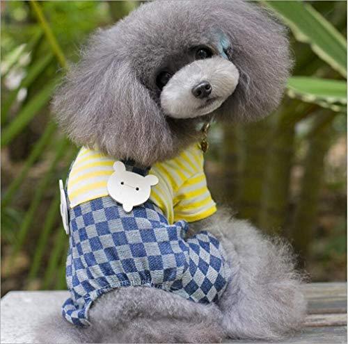 YAMERIJIA Pet kleding hond slabbetjes strepen kleding hond kleding zomerjurk