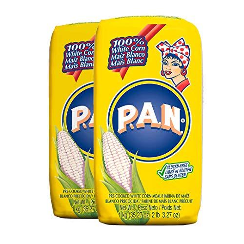 白とうもろこし粉 ホワイトコーンミール P.A.N. 1kg Harina P.A.N. White Corn Meal (2個)