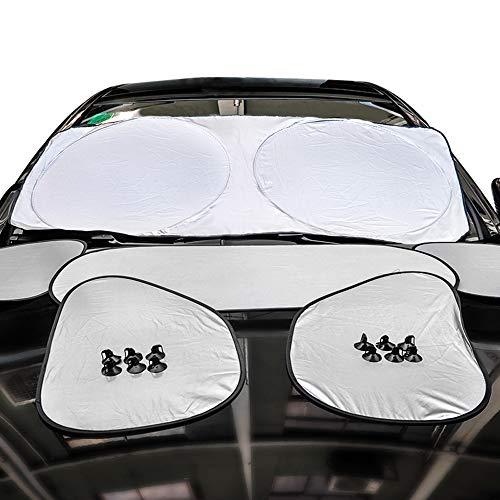 LIBWX Universal Car Interior Sonnenblende Front Heckscheibenabdeckung für BMW VW Honda Ford Toyota Sonnenschutz Sonnenschirm Coche