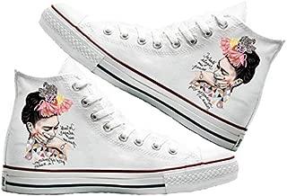 Art T-Shirt -Frida Baskılı Unisex Canvas Ayakkabı