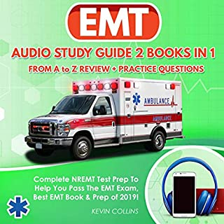 EMT Audio Study Guide 2 Books in 1: From A to Z Review & Practice Questions! audiobook cover art