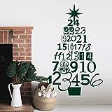 Adviento Árbol de Navidad Etiqueta de la pared Santa Claus Arte Etiqueta de la pared Planta Cactus Etiqueta de la pared