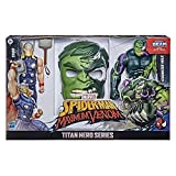 Spider-Man Maximum Venom Titan Hero Spider-Man Vs. Venomized Hulk Action Figure 2-Pack and Mask, with Blast Gear-Compatible Back Ports (Amazon Exclusive)