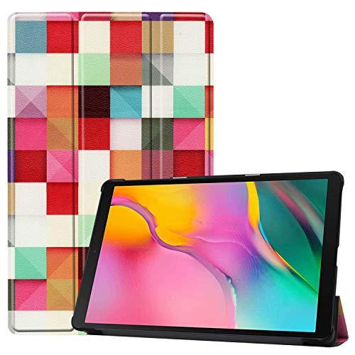 HoYiXi Custodia per Samsung Galaxy Tab A 10.1 2019 Ultra Sottile Case in pelle Smart Cover con Supporto Funzione Custodia di Tablet per 10.1 Pollici Galaxy Tab A 2019 T510 T515 - Cubo