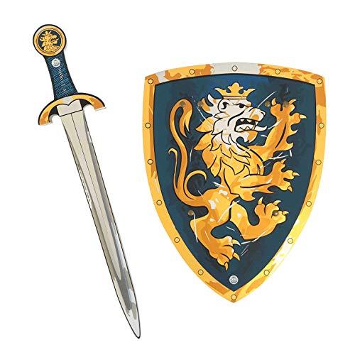 Liontouch 107LT Noble Conjunto Medieval Caballero de Juego para niños, Azul   Espada y Escudo de Juguete de Espuma