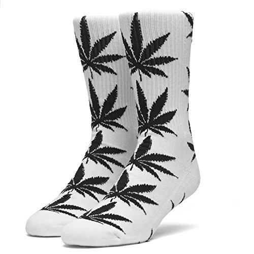 ハフ HUFハフ PLANTLIFE SOCKS スケート・メンズ・靴下・ソックス (WHITE/BLACK)