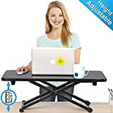 FITUEYES Height Adjustable Standing Desk Gas Spring Monitor Riser Working/Study Desk Converter, Sit