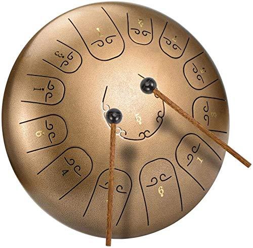 Tambor de la lengua de acero 13 Notas de 12 pulgadas Dia Lotus Tipo Acero Tambor Drum Percussion Drums Instrumento Acero Tung Tung C-Clave con Maletas, Libro, Notas Etiqueta engomada, Tambor Soportes,