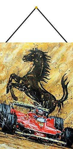 Metalen bord 20x30cm gebogen met koord paard auto racing Grand Prix grote prijs decoratief geschenk schild Tin Sign