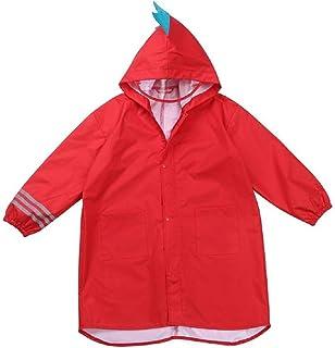 portable /à capuche /Âge 3 8/enfants pluie /étanche imperm/éable l/éger Veste de pluie rouge red S Bearcolo enfant Carton Dinosaure Cape de pluie