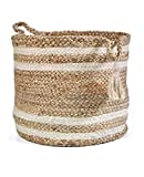 This laundry bin is Lightweight, yet sturdy and durable. Also this cloth basket has metal frame inside, making it stand on its own without support Even though it is used for storing dirty clothes, Toys,books etc. yet it's modern and stylish design ad...