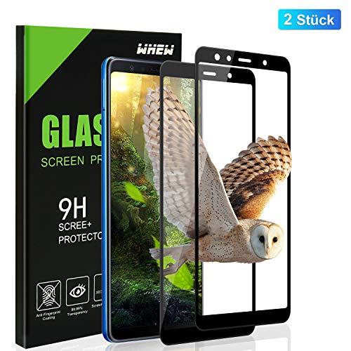Whew Panzerglasfolie Kompatibel Samsung Galaxy A7 2018, 9H [2 Stück] Full Screen Panzerglasfolie Schutzfolie für Galaxy A7 2018, Anti-Bläschen, Anti-Kratzen, Bildschirmschutzfolie Für Galaxy A7 2018.